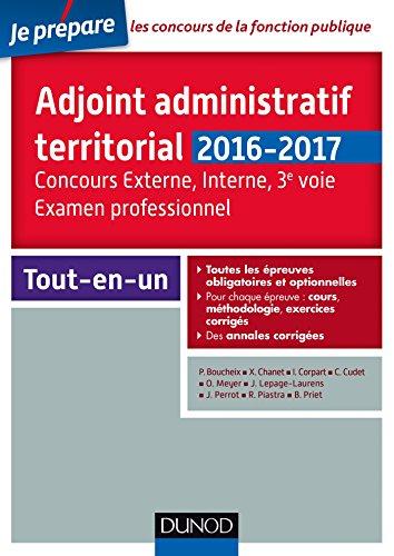 Adjoint administratif territorial - Concours et Examen professionel - 2e d.: Tout-en-un