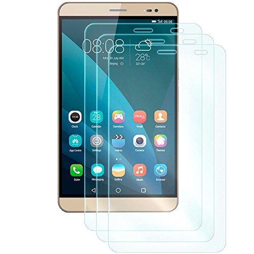 3x Display Schutzglas für Huawei MediaPad X1 / X2 (7.0 Zoll) | Härtegrad 9H | Kratzfest + Abwaschbar | sensible Touchfunktion bleibt erhalten