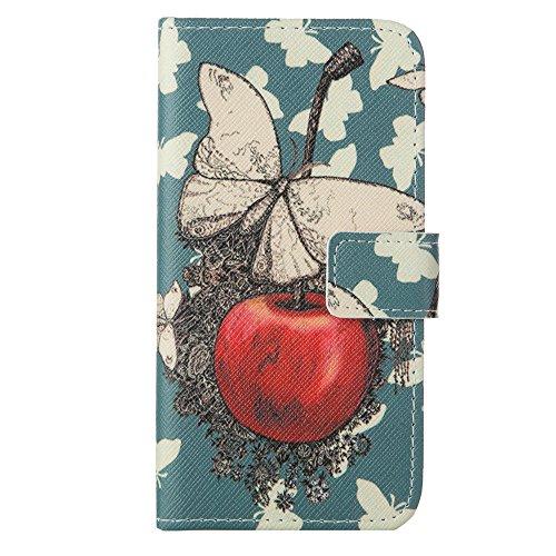 MOONCASE Étui pour Apple iPhone 6 / 6S (4.7 inch) Printing Series Coque en Cuir Portefeuille Housse de Protection à rabat Case Cover LD20 a08