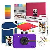 Polaroid Snap Cámara Digital instantánea (Purpura) Paquete de Libro de Recuerdos con Funda de Neopreno