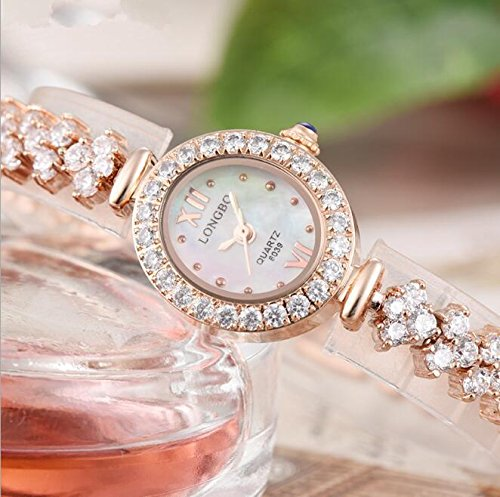 XXFFH Reloj Casual Digital Mecánica Solar Joyas De Fantasía Envuelven Pequeño Marcado Reloj Pulsera Con Estilo , 6039020 Rose Gold