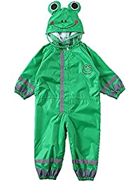58d8f7558e223c Leichte Outdoor Regenjacke Frosch grün dünn mit Kapuze Regenmantel Kinder  Baby einteilig Regenmantel grün verschleißfesten Regenmantel