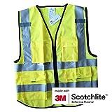 Chaleco de seguridad Salzmann 3M Chaleco de seguridad 3M de alta visibilidad Uniforme de trabajo con múltiples bolsillos y cremallera