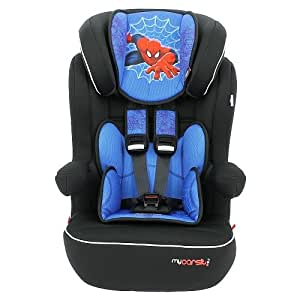 MyCarSit High Back Booster Car Seat with Harness, Spiderman