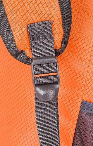 Laat Zaino impermeabile in nylon multifunzione Unisex Borsa A Spalla Pieghevole Ultralight per campeggio escursionismo trekking viaggio ciclismo, Violet verde