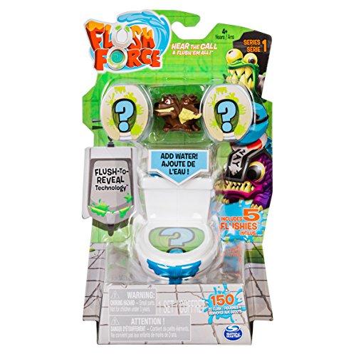 Flush Force 6037315 - 5er-Set, Klo-Set mit 2 Figuren, zum Sammeln -