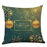 Ginli Natale-Federa Cuscino Case-Decorazione da Casa Dolce-Fodera per Cuscino, Federa di Natale Verde 45Cm*45Cm