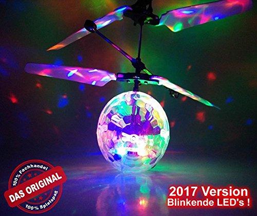 Preisvergleich Produktbild RC Fliegender Disco Ball mit LED Lichter!Neueste Version!Discokugel!Der Bestseller!-Leuchtet mit hellen Lichtstrahlen in verschiedenen Farben!Super Effekt!Einfach zu Steuern mit der Hand!Das Spielzeug für Jung und Alt!Der Megaspaß auf jeder Party!Der HIT auf jeder Kinderparty,Flugspiel,Fußball,RC UFO