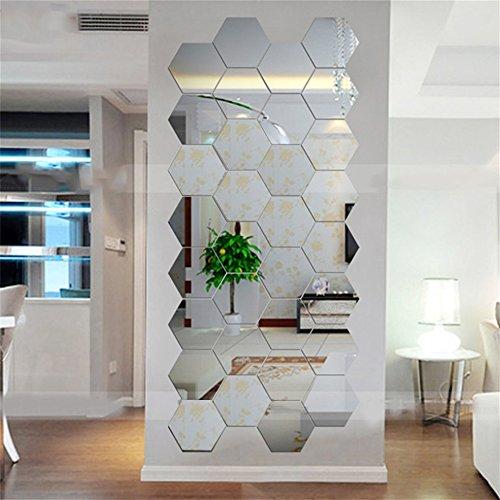 Dailyinshop Hexagonal 3D Espejos Pegatinas Pared Decoración
