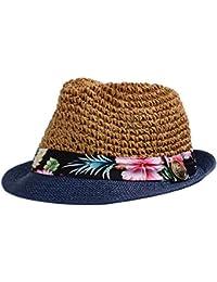 Leisial Unisexe Panama Paille Chapeau Casquette visières Anti-soleil Respirant Anti UV pour Lovers plage loisirs Voyage