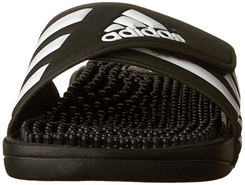 adidas Adissage Sandal (Toddler/Little Kid/Big Kid),Black/White/Black,1 M US Little Kid Black/White/Black