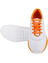 Bombayland Sport Shoes White & Orange For Men