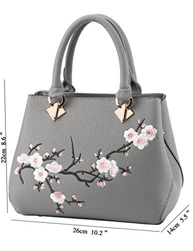 Menschwear Leather Tote Bag lucida PU nuove signore borsa a tracolla Rosa Grigio