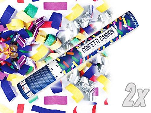 Konfetti Shooter 2 Stück Party Popper bunte Folien Konfetti Kanone XXL 60 cm ! Hochzeit - von Haus der Herzen ® - 2