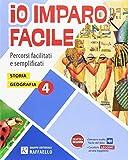 eBook Gratis da Scaricare Io imparo facile Storia Geografia Per la Scuola elementare 4 (PDF,EPUB,MOBI) Online Italiano