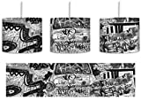 Monocrome, Trabant durch die Wand, Trabi DDR Kult inkl. Lampenfassung E27, Lampe mit Motivdruck, Deckenlampe, Hängelampe, Pendelleuchte - Durchmesser 30cm -...
