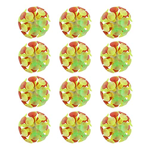 farbige Saugnapf Ball Flash Luminescence Spielzeug Party Spielzeug für Kinder ()
