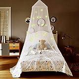 Truedays Moskitonetz für Baby Kid Kinder baldachin kinderzimmer Leuchtende Sterne Netze Bett