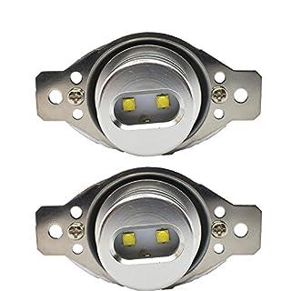 900LM 40W LED Daytime Running Lights Angel Eyes Halo Rings Corona Side Marker DRLs Light Bulbs E90 E91 EB5L2