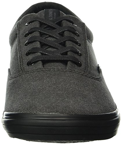 Jack & Jones Jfwvision Washed Canvas Sneaker Anthraci, Baskets Basses Homme Gris - Grau (Anthracite)