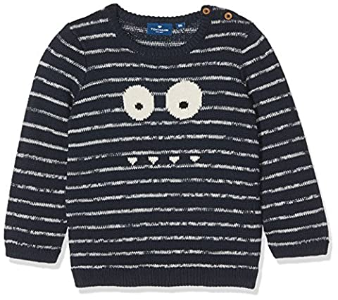 TOM TAILOR Kids Baby-Jungen Pullover Striped Sweater, Blau (Real Navy Blue 6593), 92