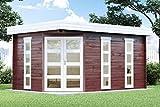 Alpholz 5-Eck Gartenhaus Modell Lindau-40, 40 mm Wandstärke (442 x 302 cm)