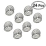 BESTONZON 24pcs porte-numéros da tavolo porta biglietti da matrimonio portafoto portafoto Note Menu clip clip titolare (argento)