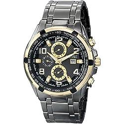 August Steiner Herren 47mm Schwarz Metall Armband Metall Gehäuse Uhr AS8127YGB