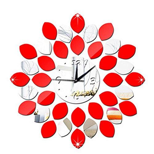 orologio-da-parete-3d-protezione-ambientale-ps-plastica-diy-fai-da-te-forma-del-foglio-orologio-red-
