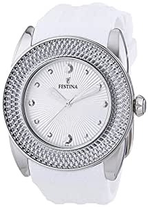 Festina - F16591/1 - Montre Femme - Quartz Analogique - Bracelet Silicone Blanc