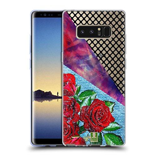 Head Case Designs Rose Batik Kravatte Und Vermaschte Drucke Soft Gel Hülle für Samsung Galaxy Note8 / Note 8