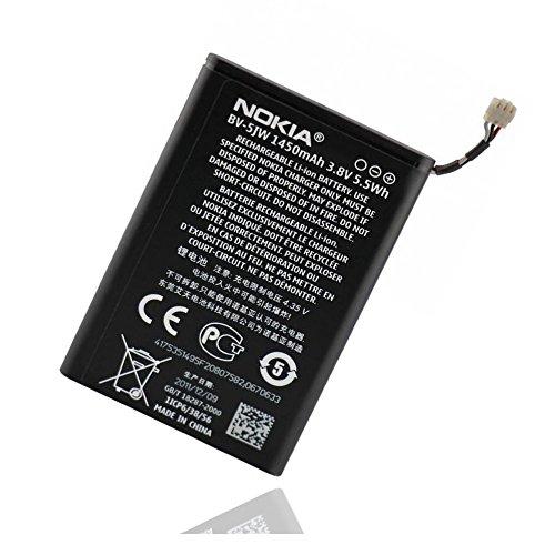 ORIGINAL Akku accu Batterie battery für Nokia Lumia 800, N9 - 1450mAh - Li-Ionen - (BV-5JW)