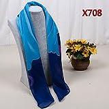 YRXDD Silk Schals Art und Weise das Drucken kleine quadratische Damen Frühling und Herbst Schalkragen (70 * 70cm), X708