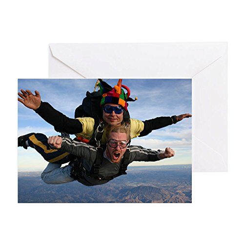 'CafePress Skydive–Grußkarte, Note Karte, Geburtstagskarte, innen blanko, glänzend