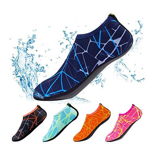 Scarpe a calzino, ad asciugatura rapida, con stampa, antiscivolo, mantengono i piedi caldi, perfette per uso interno ed esterno, sport, spiaggia, giochi, nuoto, surf, Tibetan blue, EU:32-33