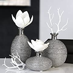 Idea Regalo - Casablanca Vase 3er Set Miro Keramik 36950