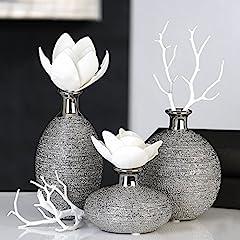 Idea Regalo - Casablanca Vase 3er Set Miro Keramik 36950