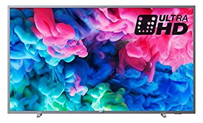 Philips 43PUS6523/12 4K Ultra HD Smart TV with HDR Plus and Freeview Play - Dark silver