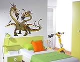 Klebefieber Wandtattoo Dragons Raffnuss und Taffnuss mit Kotz und Würg B x H: 66cm x 50cm
