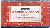 Satya Nag Champa–Varillas de incienso con aroma a flor de jazmín, Caja de 12 paquetes