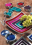India Enamel & Aluminium Summer Set of 4 Coasters Turquoise