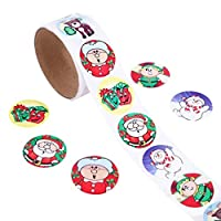 Tobey Trevelyan multicoloured New 1Roll 100Pcs Christmas Decorative Stickers Adhesive Roll Top Diary Stickers(None 1)