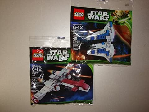 Lego Star Wars Z-95 Headhunter 30240 und Mandalorian Fighter 30241 Bausätze im Set - 9120049247349