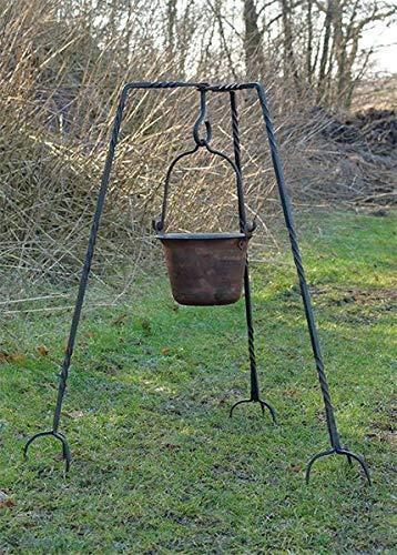 Geschmiedetes Dreibein, ca. 93 cm Mittelalter Kochstelle LARP Hängegrill Lager Feuerstelle