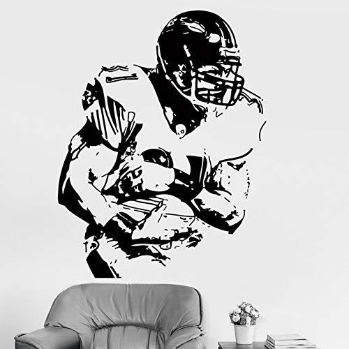 LovelyHomeWJ Fußball Sport Super Bowl Vinyl Wandtattoo Wohnkultur Wohnzimmer Kunstwand Wandaufkleber Geschenk 58x74 cm (Diesem In Super-bowl-farben Jahr)