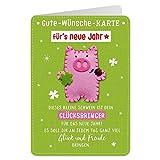 Sheepworld - 90484 - Klappkarte, mit Umschlag, Gute Wünsche Karte, Nr. 41, Für´s neue Jahr
