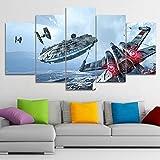 Drucke Auf Leinwand 3D Moderne Star Wars 5 Panels Wand Kunst Gemälde Dekorationen Nein Gerahmt,C,30X40x2+30X60x2+30X80x1