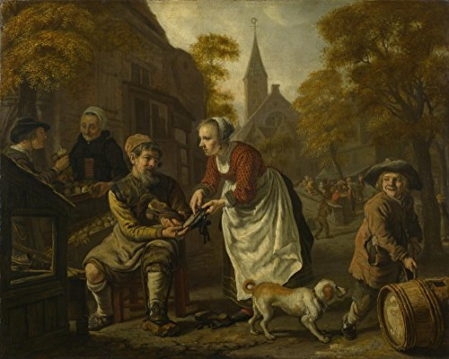 the-museum-outlet-jan-victors-a-village-scene-with-a-cobbler-stretched-canvas-gallery-wrapped-38x48