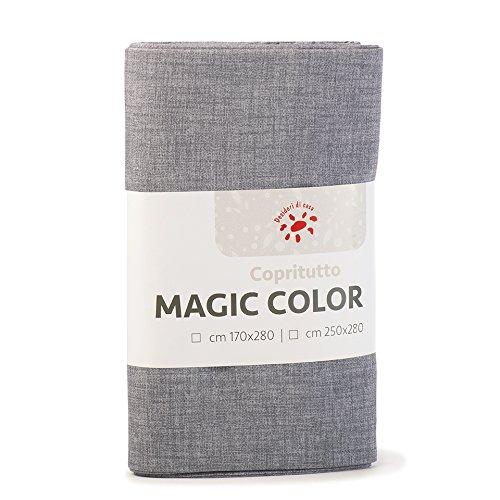 Desideri di casa magic telo copritutto, 60% cotone 40% poliestere, grigio, 250x280,