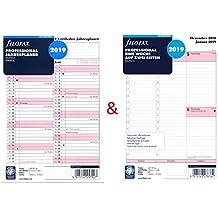 Filofax Kalendereinlage Set A5 Multifit Professional: Eine Woche auf zwei Seiten und Jahresplaner 2019